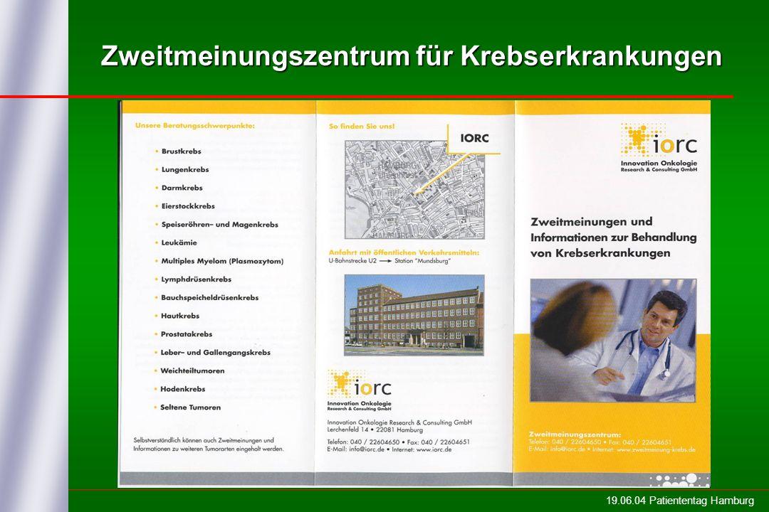 19.06.04 Patiententag Hamburg Zweitmeinungszentrum für Krebserkrankungen