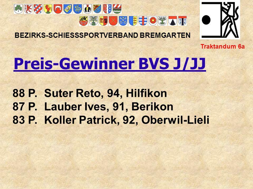 Match-Ehrenmedaille G 10m BEZIRKS-SCHIESSSPORTVERBAND BREMGARTEN Traktandum 6c 1.