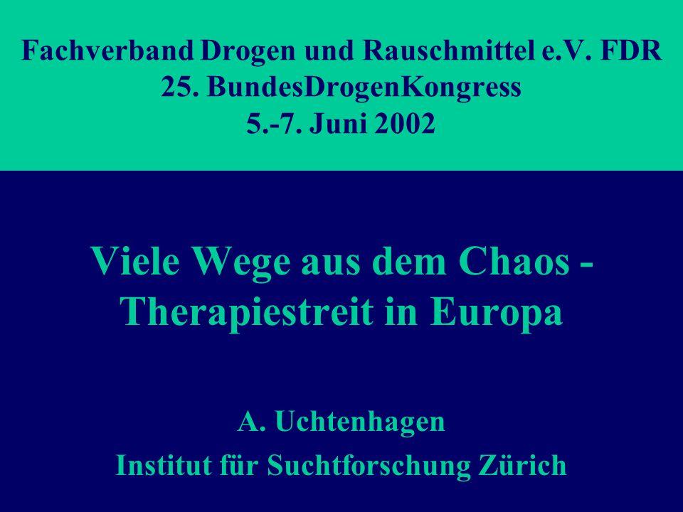 Fachverband Drogen und Rauschmittel e.V.FDR 25. BundesDrogenKongress 5.-7.