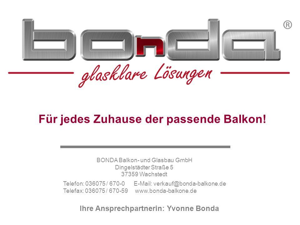 Schöck Isokorb® Typ KST Konstruktionsdetails BONDA Balkon- und Glasbau GmbHTel.: 036075 / 670-0Ansprechpartnerin: Dingelstädter Str.