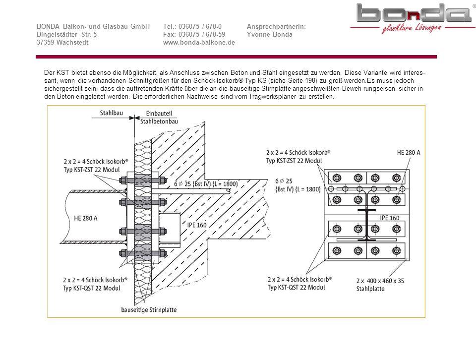 Beispiele zur Anordnung und Ausführung von Dehnfugen, Variante 1 BONDA Balkon- und Glasbau GmbHTel.: 036075 / 670-0Ansprechpartnerin: Dingelstädter Str.