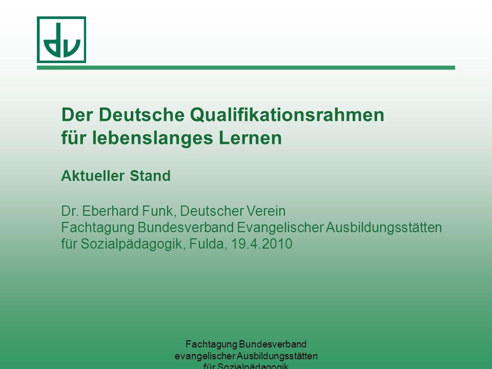 Hoffnung …Die Umsetzung des Deutschen Qualifikationsrahmens bietet die Chance, dass wir in Deutschland dem Prinzip näher kommen: wichtig ist, was jemand kann, und nicht, wo er es gelernt hat.