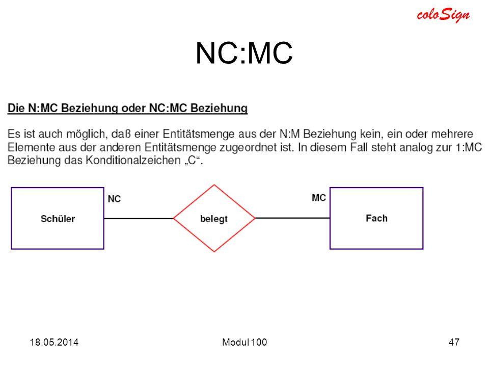 coloSign 18.05.2014Modul 10047 NC:MC