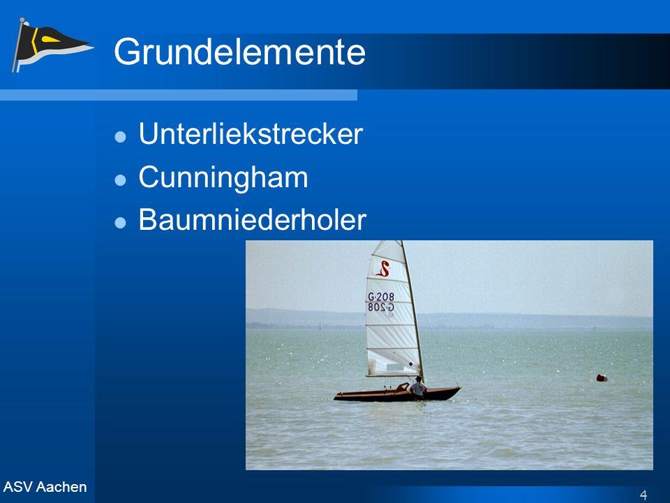 ASV Aachen 4 Grundelemente Unterliekstrecker Cunningham Baumniederholer