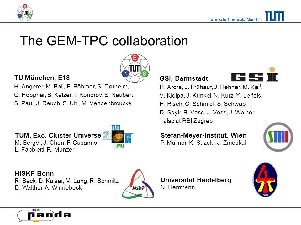Technische Universität München The GEM-TPC collaboration TU München, E18 H.