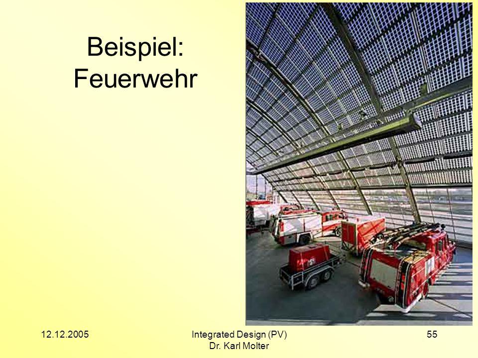 12.12.2005Integrated Design (PV) Dr. Karl Molter 55 Beispiel: Feuerwehr