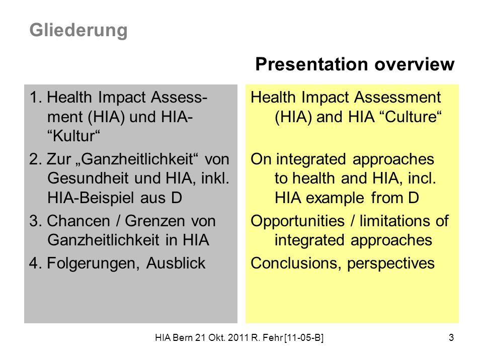 HIA Bern 21 Okt.2011 R. Fehr [11-05-B]4 1.