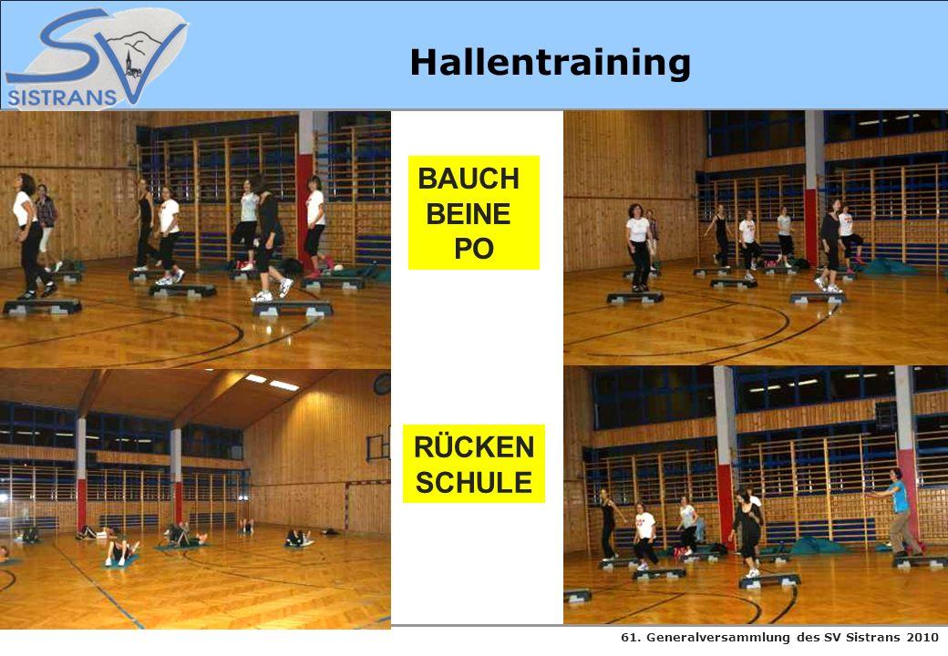 61. Generalversammlung des SV Sistrans 2010 Hallentraining BAUCH BEINE PO RÜCKEN SCHULE