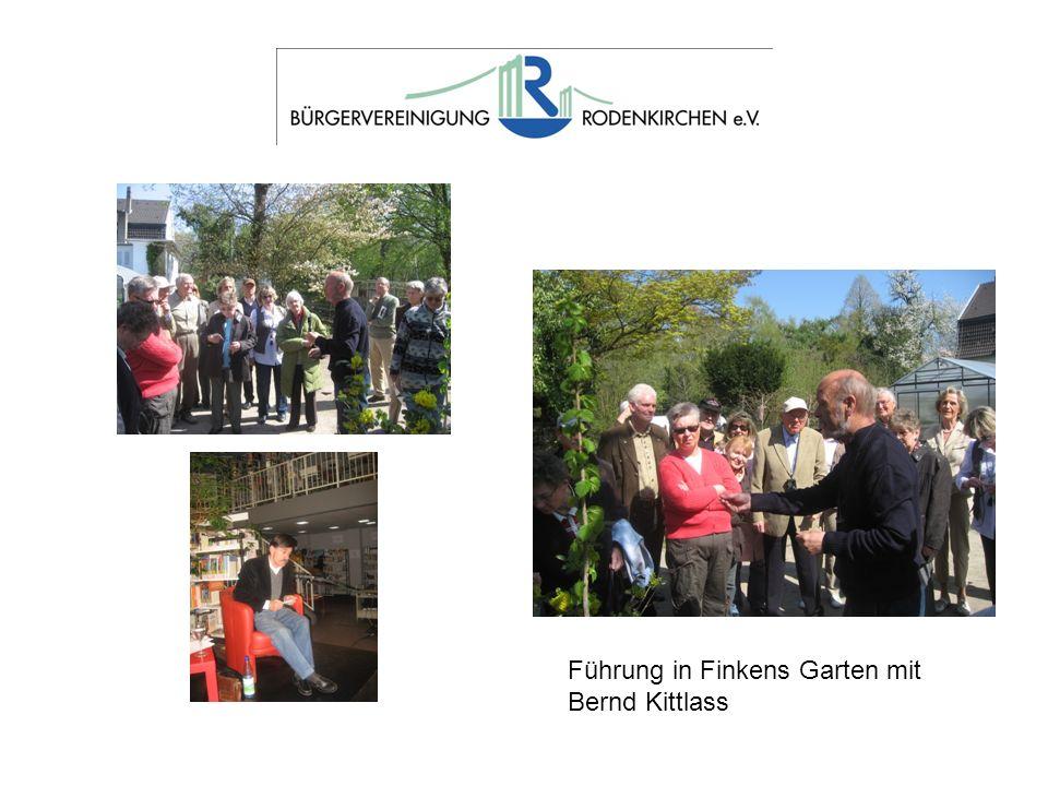 Führung in Finkens Garten mit Bernd Kittlass