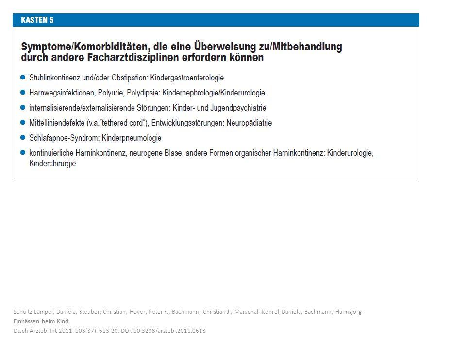 Schultz-Lampel, Daniela; Steuber, Christian; Hoyer, Peter F.; Bachmann, Christian J.; Marschall-Kehrel, Daniela; Bachmann, Hannsjörg Einnässen beim Ki