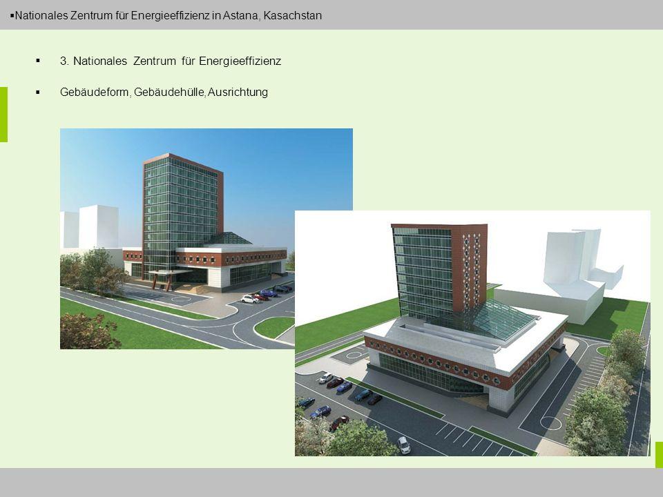 Dipl.-Ing. Arch. Christian Eboke Nationales Zentrum für Energieeffizienz in Astana, Kasachstan 3. Nationales Zentrum für Energieeffizienz Gebäudeform,