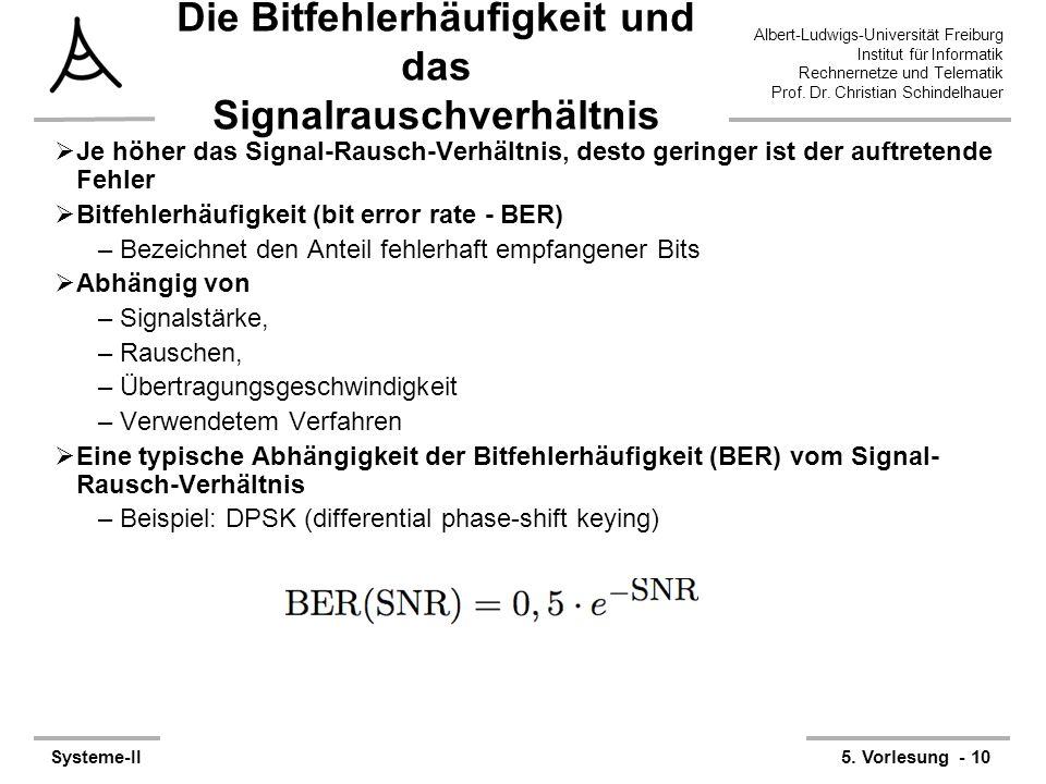 Albert-Ludwigs-Universität Freiburg Institut für Informatik Rechnernetze und Telematik Prof. Dr. Christian Schindelhauer Systeme-II5. Vorlesung - 10 D
