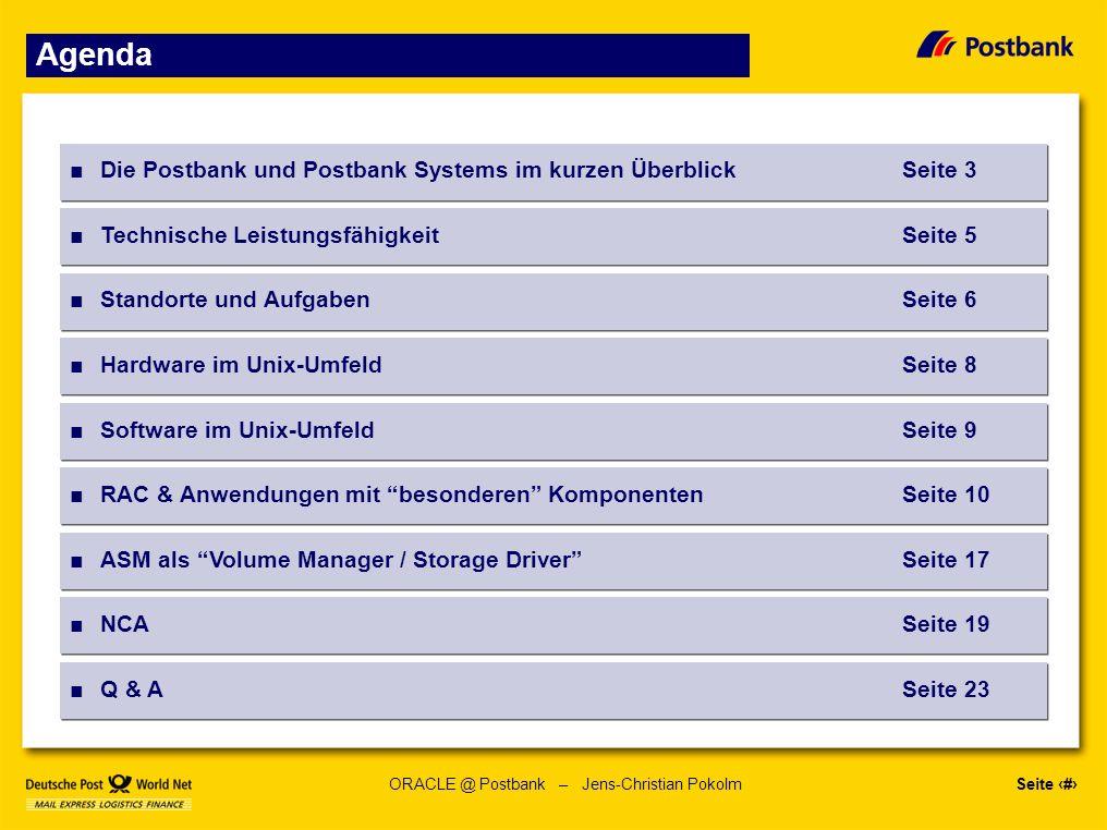 Seite 23 ORACLE @ Postbank – Jens-Christian Pokolm Fragen....
