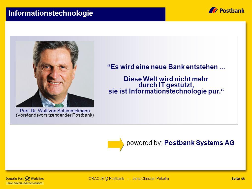 Seite 5 ORACLE @ Postbank – Jens-Christian Pokolm Technische Leistungsfähigkeit * Kartengeschäft 6,16 Mio.