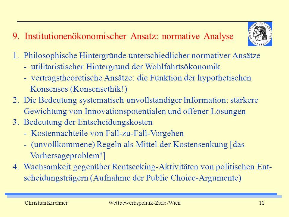Christian KirchnerWettbewerbspolitik-Ziele /Wien11 1.