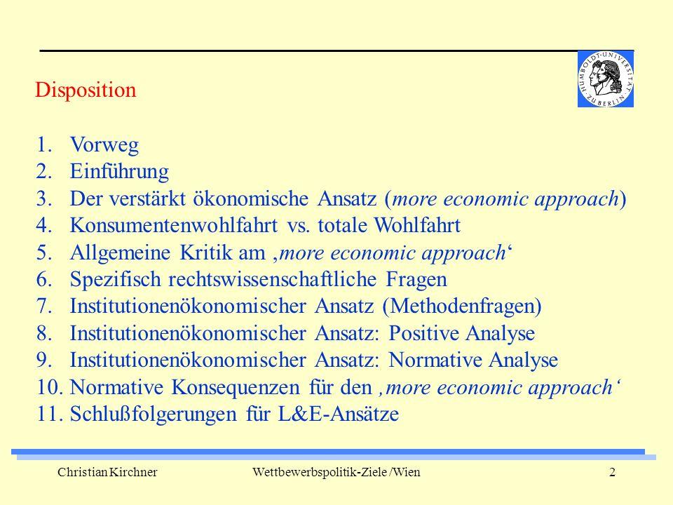 Christian KirchnerWettbewerbspolitik-Ziele /Wien13 1.
