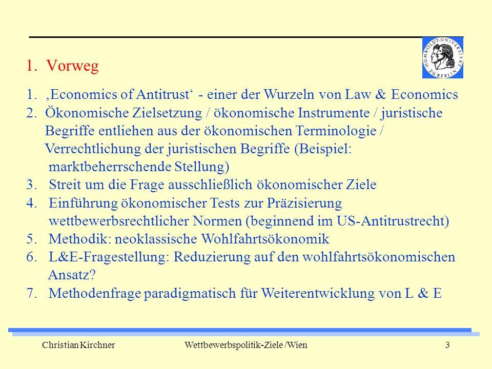 Christian KirchnerWettbewerbspolitik-Ziele /Wien3 1.