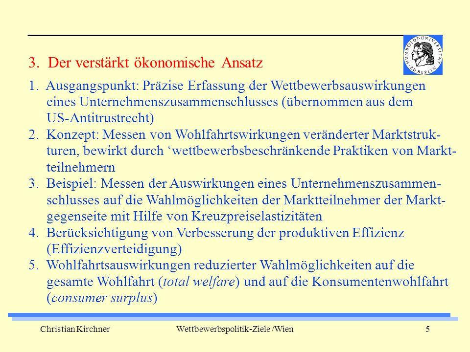 Christian KirchnerWettbewerbspolitik-Ziele /Wien6 1.