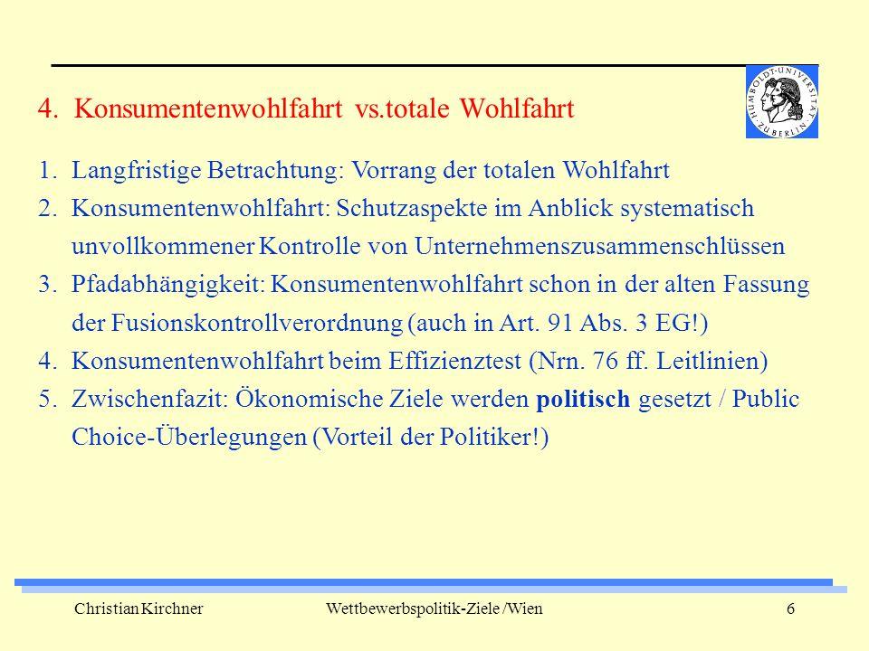 Christian KirchnerWettbewerbspolitik-Ziele /Wien7 1.