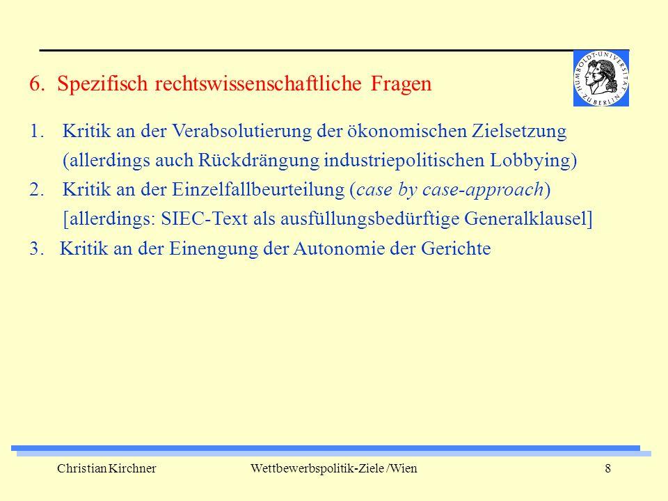 Christian KirchnerWettbewerbspolitik-Ziele /Wien9 1.