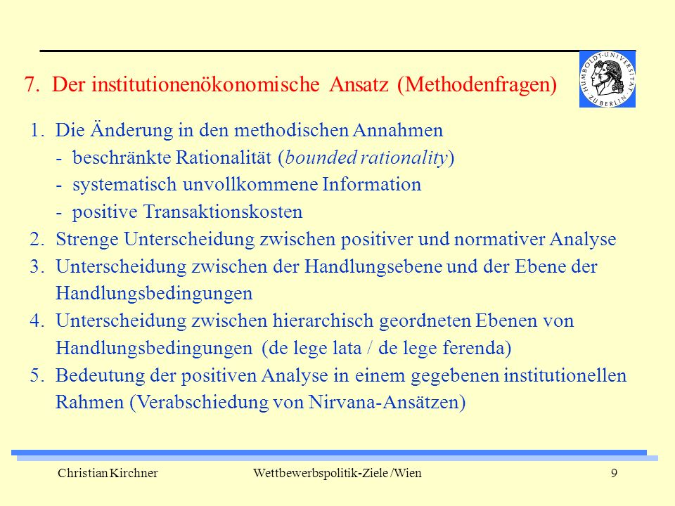 Christian KirchnerWettbewerbspolitik-Ziele /Wien10 1.