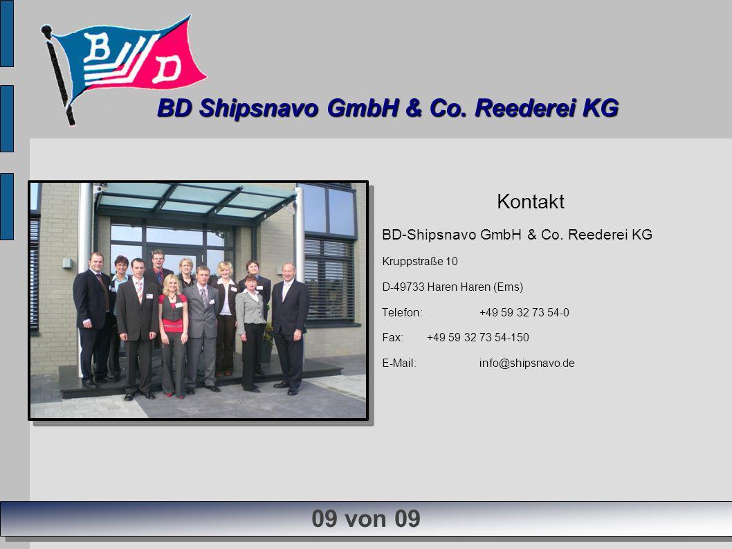 Kontakt BD-Shipsnavo GmbH & Co. Reederei KG Kruppstraße 10 D-49733 Haren Haren (Ems) Telefon:+49 59 32 73 54-0 Fax:+49 59 32 73 54-150 E-Mail:info@shi