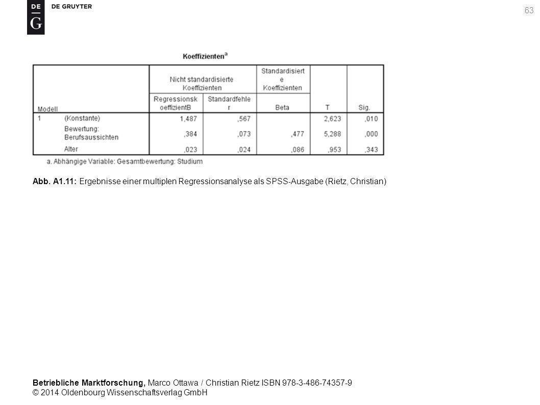 Betriebliche Marktforschung, Marco Ottawa / Christian Rietz ISBN 978-3-486-74357-9 © 2014 Oldenbourg Wissenschaftsverlag GmbH 63 Abb.