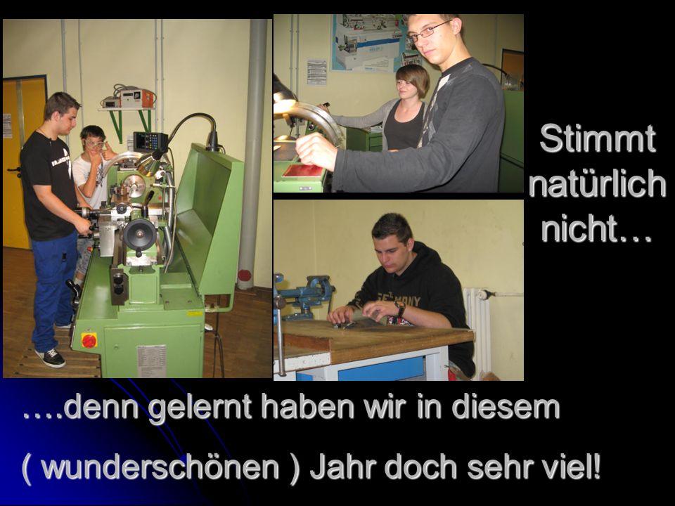 Frau Lenz, Herr Werner, Herr Belger und die anderen Lehrer des BSZ haben uns sehr oft geholfen und versucht zu motivieren… …manchmal hat`s tatsächlich funktioniert P.S.