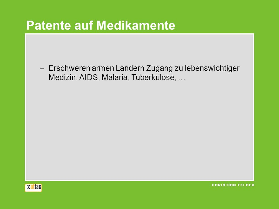 Klage 3: Bayer vs.