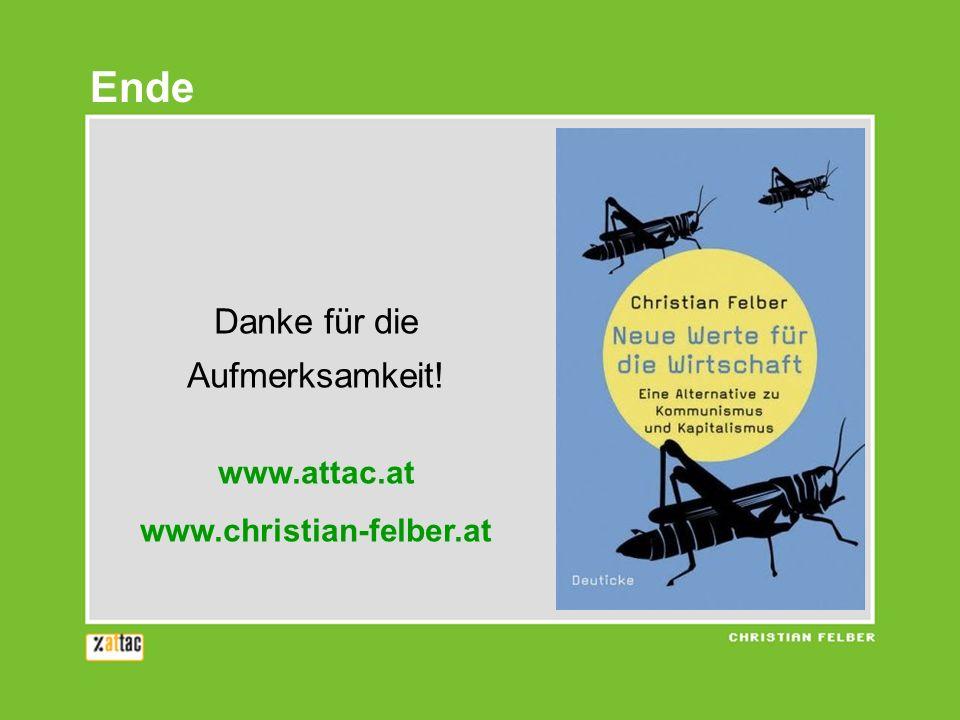 Danke für die Aufmerksamkeit! www.attac.at www.christian-felber.at Ende