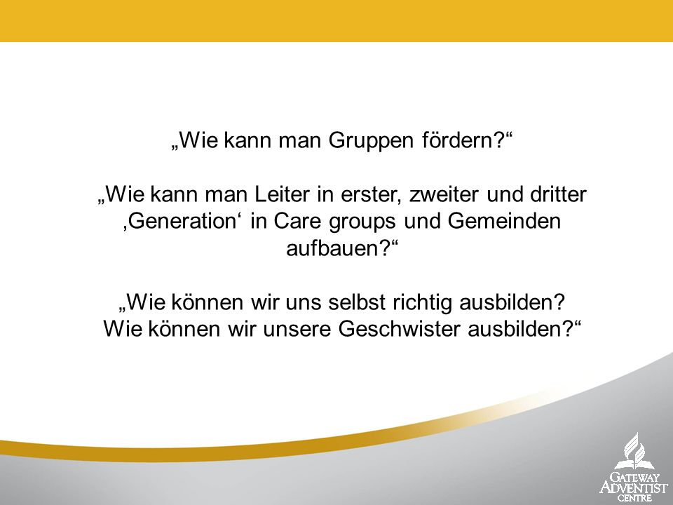 Geistliche Begleiter – Jüngerschaft von Mensch zu Mensch MY COMMITMENT AS A SPIRITUAL GUARDIAN To: As a fellow Christian who has experienced the joy and challenges in Christian life, I would like to share this experience with those who are just beginning their walk with Jesus.