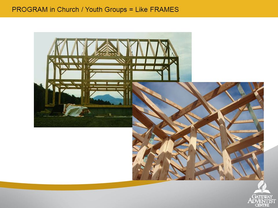 PROGRAM in Church / Youth Groups = Like FRAMES