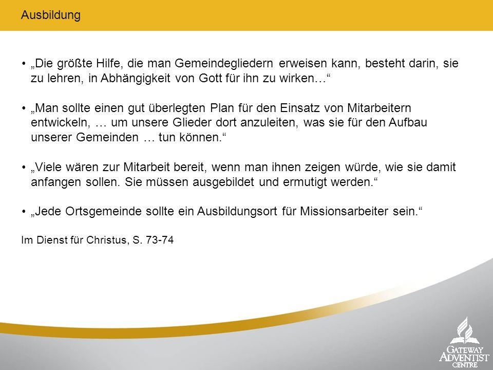 Wie FAST ins Jüngerschaftstraining passt Quelle: FAST- www.fast.st Evangelisation FestigenErmahnenZurüsten Hören EmpfangenLebenWeitergeben Ungläubiger Geistl.