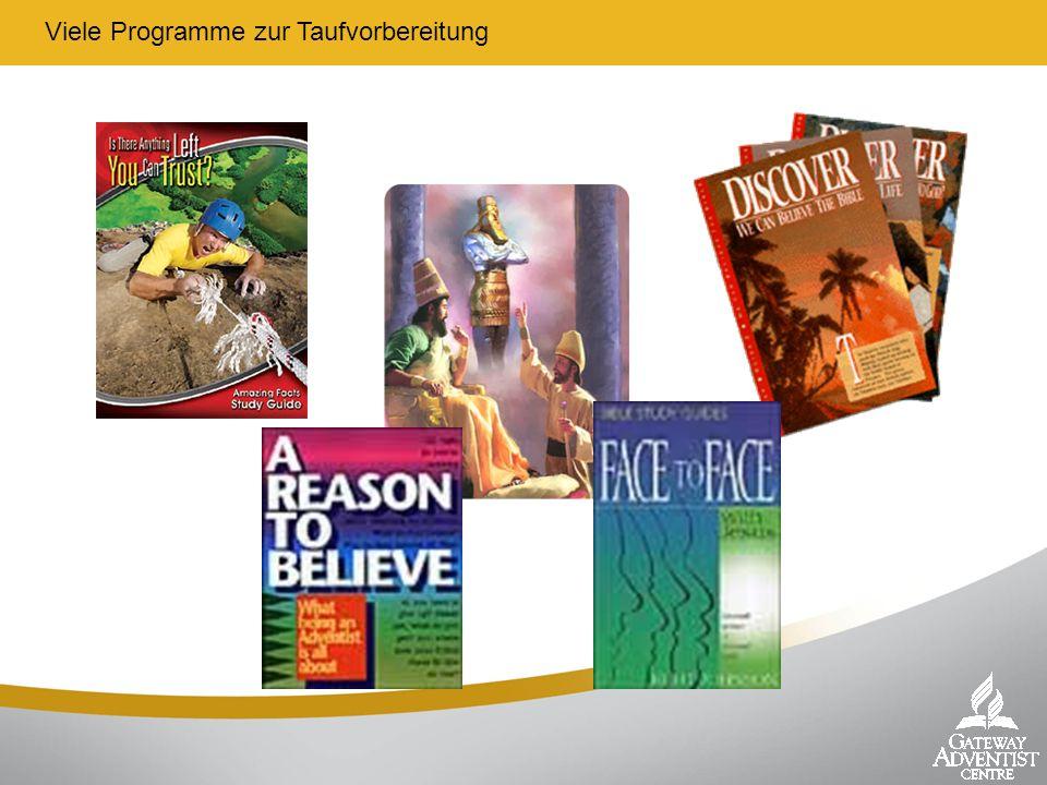 Viele Programme zur Taufvorbereitung
