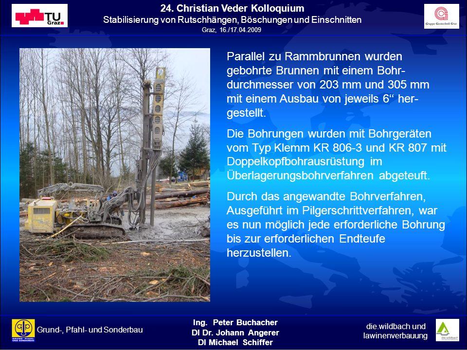 Ing. Peter Buchacher DI Dr. Johann Angerer DI Michael Schiffer Grund-, Pfahl- und Sonderbau die.wildbach und lawinenverbauung 24. Christian Veder Koll