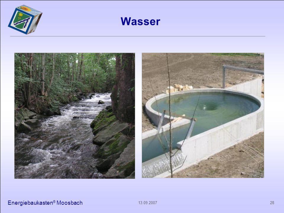 Energiebaukasten ® Moosbach 2813.09.2007 Wasser