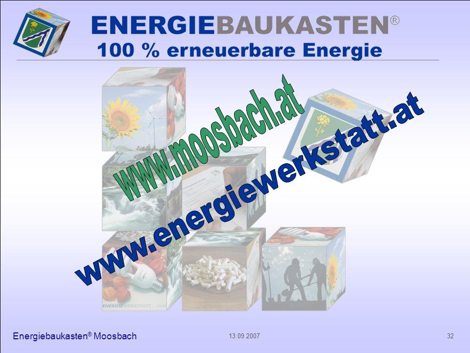 Energiebaukasten ® Moosbach 3213.09.2007