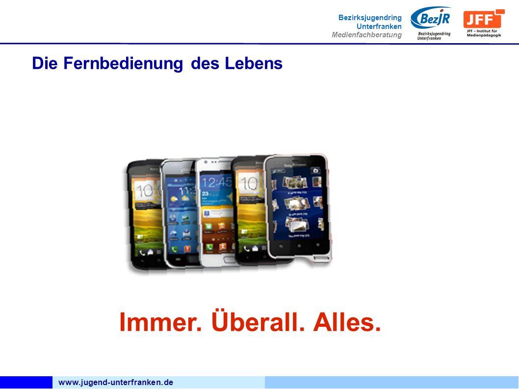 www.jugend-unterfranken.de Bezirksjugendring Unterfranken Medienfachberatung Die Fernbedienung des Lebens Immer.