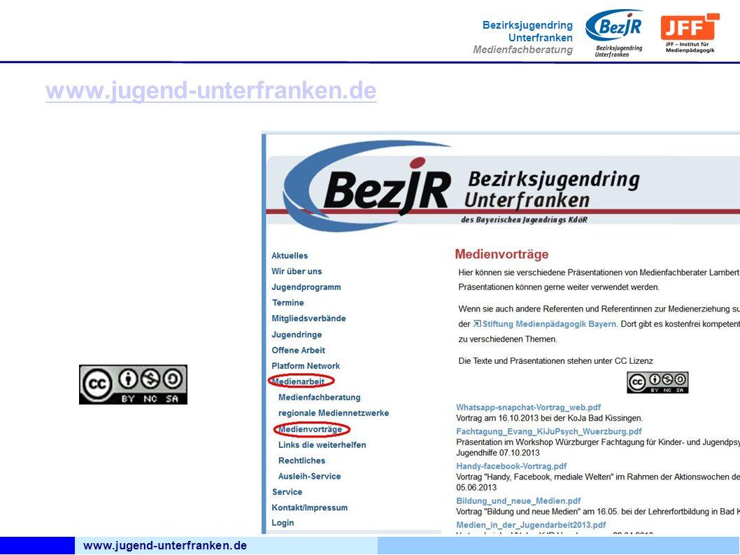 www.jugend-unterfranken.de Bezirksjugendring Unterfranken Medienfachberatung www.jugend-unterfranken.de