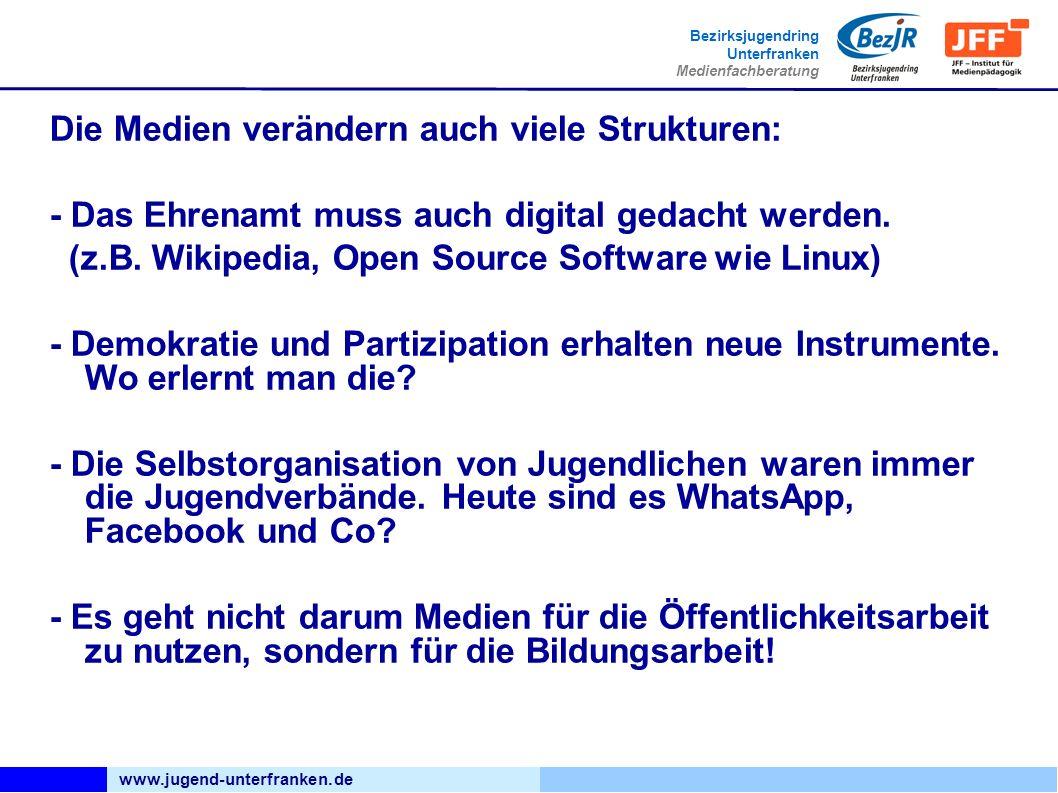 www.jugend-unterfranken.de Bezirksjugendring Unterfranken Medienfachberatung Angebote kommen und gehen