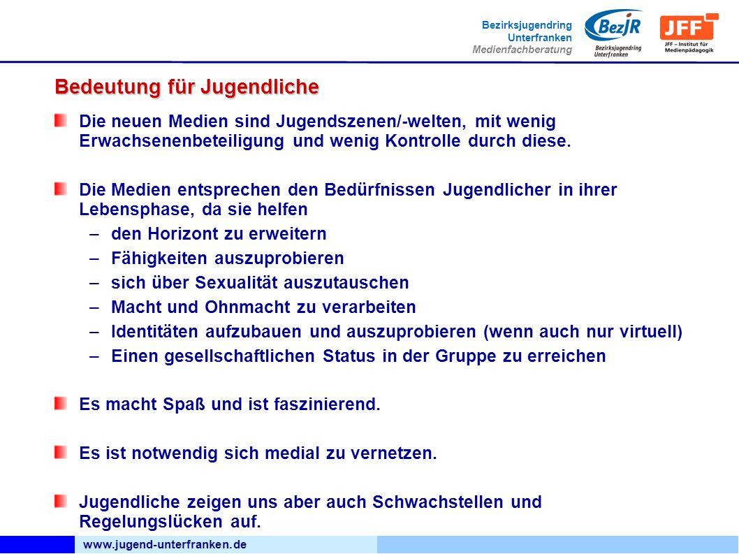www.jugend-unterfranken.de Bezirksjugendring Unterfranken Medienfachberatung Handy im Unterricht http://www.medienundbildung.com/uploads/media/PDF_Taschenfunk_Internet_02.pdf