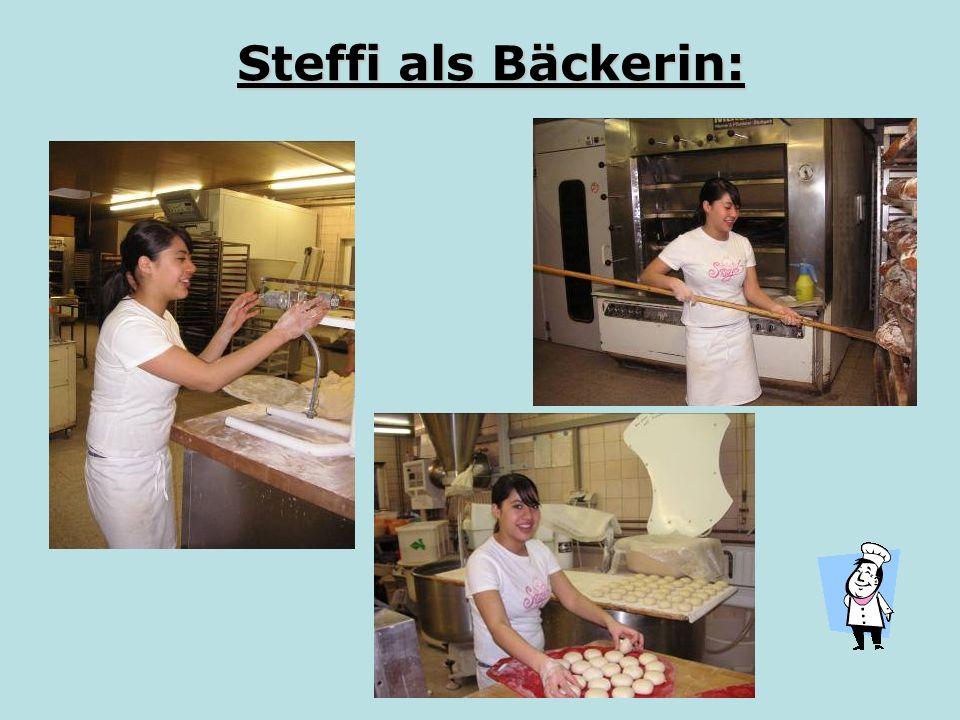 Steffi als Bäckerin: