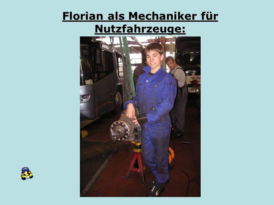 Florian als Mechaniker für Nutzfahrzeuge: