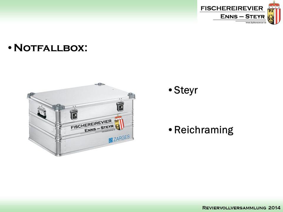 Steyr Reichraming Notfallbox: Reviervollversammlung 2014