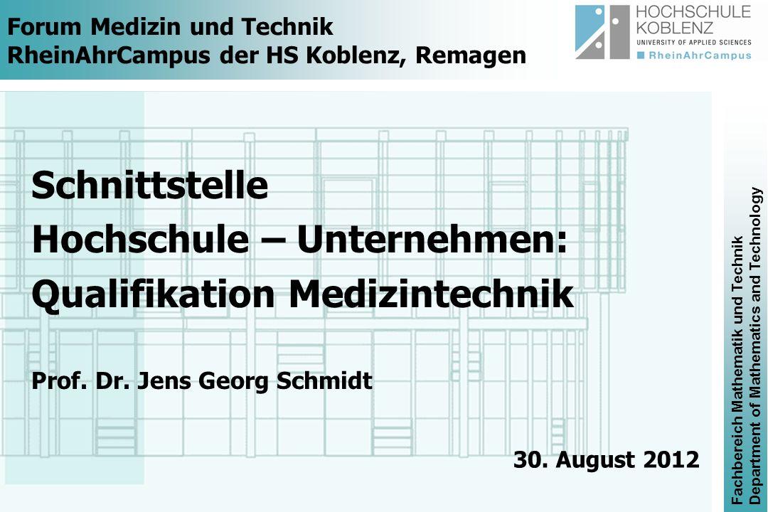 Fachbereich Mathematik und Technik Department of Mathematics and Technology Visualisierung