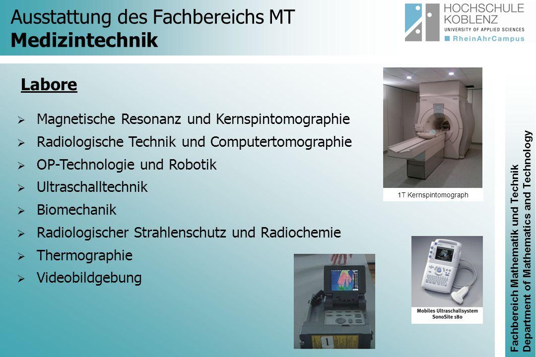 Fachbereich Mathematik und Technik Department of Mathematics and Technology Neuer Bachelorstudiengang Sportmedizinische Technik Modellierung und Simulation