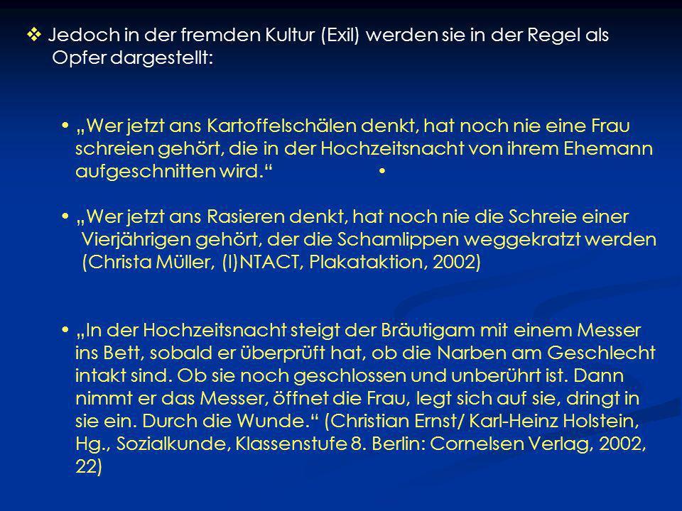 2.Die Situation der FGC-Betroffenen im deutschen Gesundheitssystem FGC-Betroffene machen laut eigener Befragung, insbesondere in den Abteilungen für Gynäkologie und Geburtshilfe, häufig negative Erfahrungen.