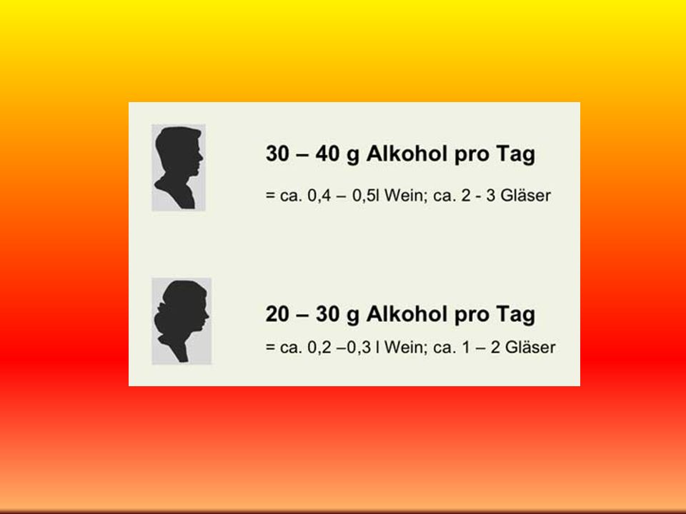 DAS ALKOHOL – MÄUSE – EXPERIMENT VON GÖTEBORG Forscherteam um Ing-Marie Jonsson EINE HÄLFTE DER MÄUSE WASSER MIT 10 % ALKOHOL BEI 20 % ZU RHEUMATOIDER ARTHRITIS (nur milde Form mit weniger Knorpel- und Gelenkschaden) ZWEITE HÄLFTE DER MÄUSE NUR WASSER BEI 85 % ZU RHEUMATOIDER ARTHRITIS ( schwere Formen) DA STELLT SICH DIE FRAGE: KANN MAN DIESES ERGEBNIS AUCH AUF MENSCHEN ÜBERTRAGEN ?