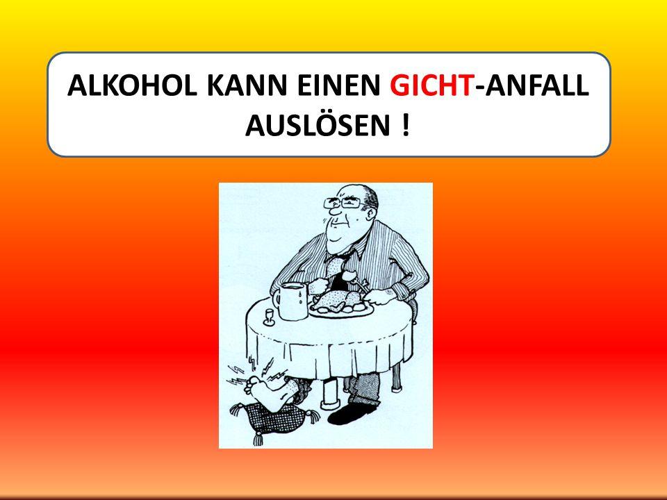 DAS MENSCHEN –ALKOHOL - RHEUMA– EXPERIMENT VON STOCKHOLM Henrik Källberg vom Karolinska-Institut ERGEBNISSE :.