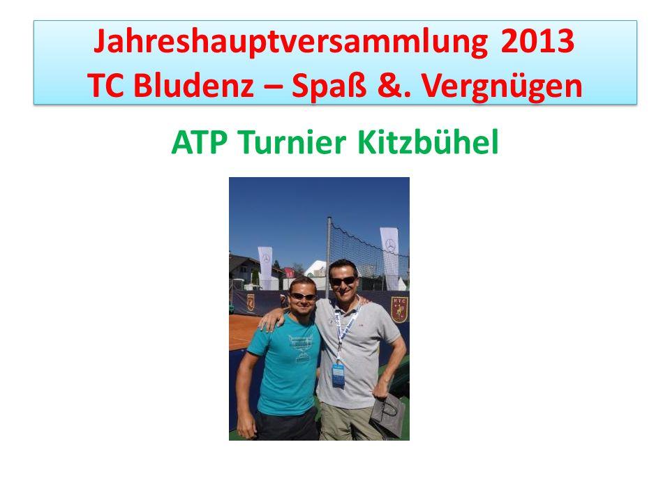 Jahreshauptversammlung 2013 TC Bludenz – Spaß &. Vergnügen ATP Turnier Kitzbühel